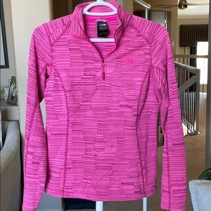 Pink North Face Half Zip Pullover